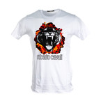 Flamin Tiger T-Shirt // White (L)