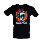 Flamin Tiger T-Shirt // Black (L)