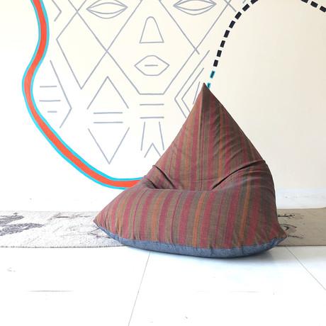 Handloom Cotton Beanbag // Makeba + Charcoal