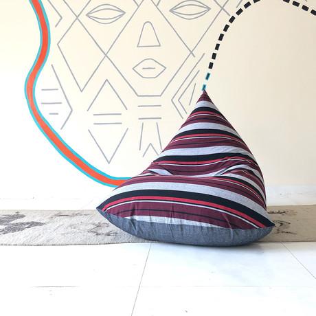 Handloom Cotton Beanbag // Retro + Charcoal