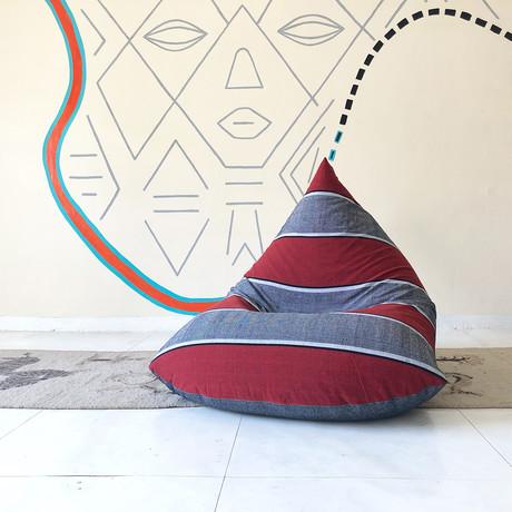 Handloom Cotton Beanbag // Afro Sands