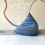 Handloom Cotton Beanbag // Unfilled // Istanbul + Charcoal