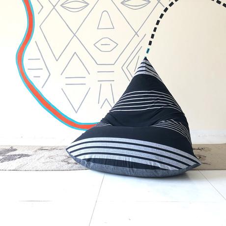 Handloom Cotton Beanbag // Charcoal + Shri
