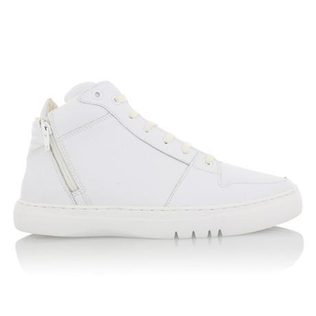 Adonis Mid Zip Sneaker // White (US: 7)