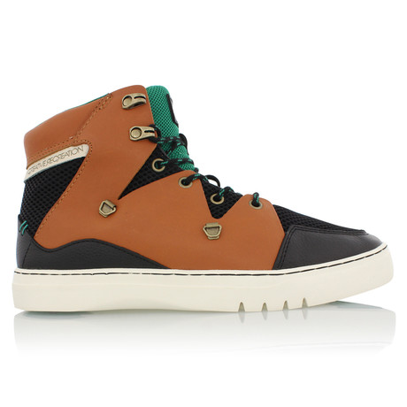 Spero High Top // Black + Tan + Green (US: 7)
