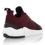 Ceroni Low Top Runner // Burgundy + Black (US: 8)