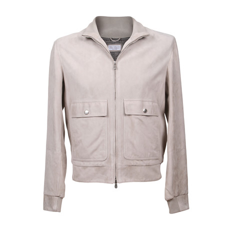 Suede Jacket // Gray (XS)