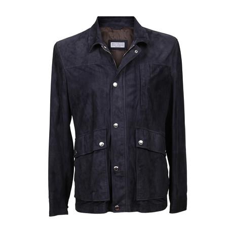 Suede Jacket // Blue (XS)