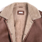Beorn Shearling Wool Lined Leather Parka // Brown (XS)