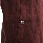 Bard Suede Vest // Maroon (XS)