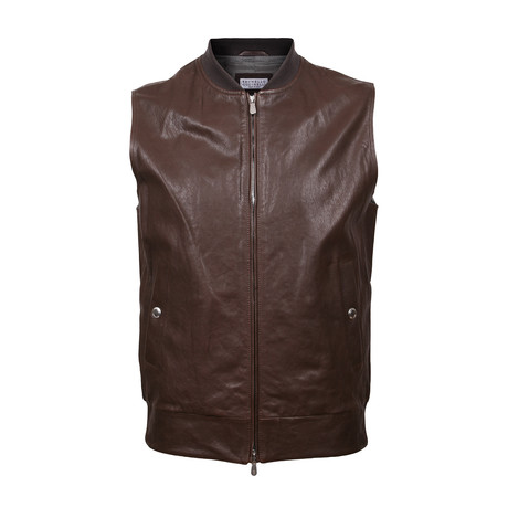 Leather Vest // Brown (XS)