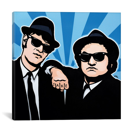 """The Blues Brothers by James Lee (18""""W x 18""""H x 0.75""""D)"""
