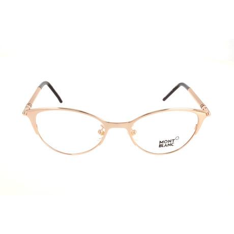 Women's MB0438 Optical Frames // Shiny Rose Gold