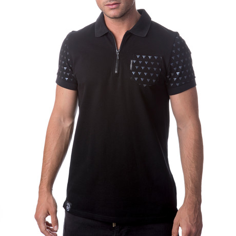 Zipper Polo // Black (S)