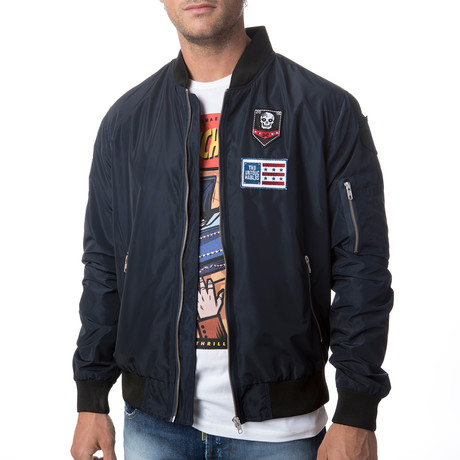 Aviator Bomber Jacket // Navy (S)