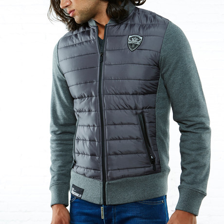 Mixed Puffer Jacket // Gray (S)