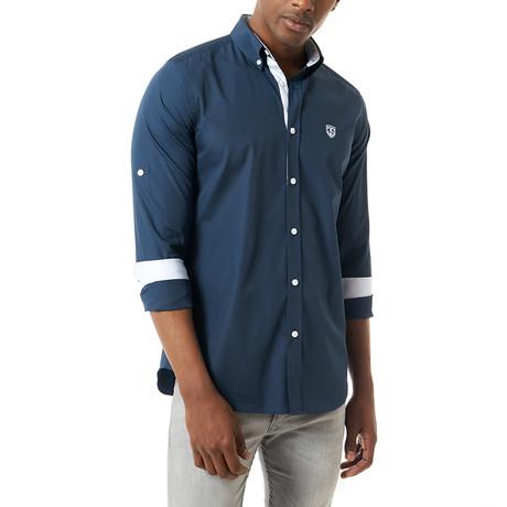 Easton Shirt // Navy (XS)
