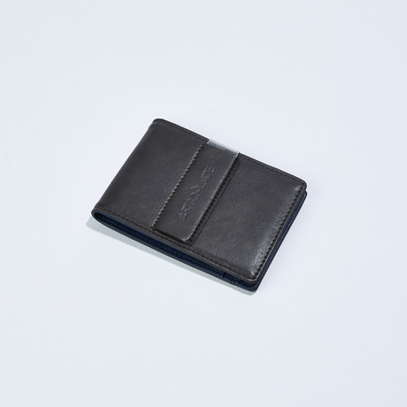 Slim Money Clip // Charcoal + Dark Blue