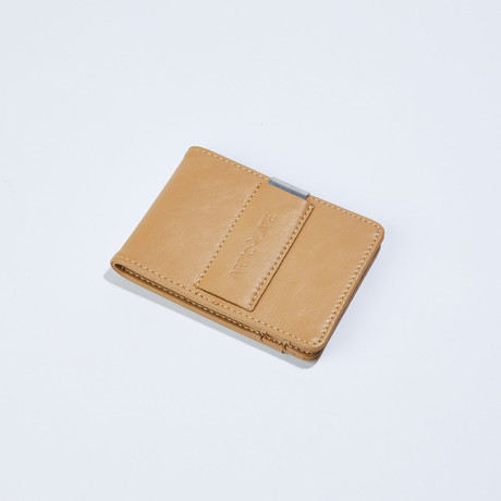 Slim Money Clip // Beige