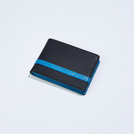 Wallet // Black + Blue