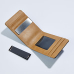 Slim Money Clip // Black + Beige