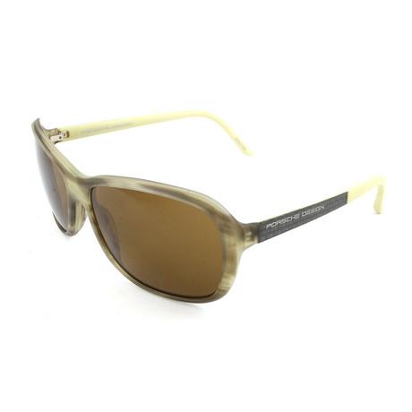 Women's P8558 D Sunglasses // Matte Olive