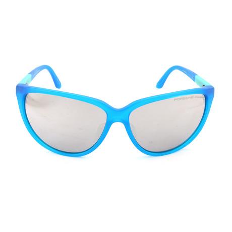 Women's P8588 Sunglasses // Transparent Blue