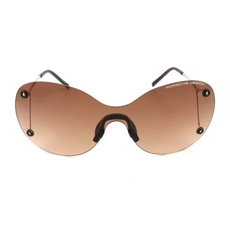 Women's P8621 Sunglasses // Gold + Brown