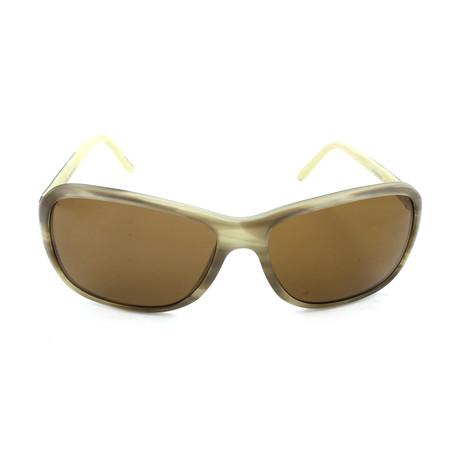 Porsche Design // Women's P8558 D Sunglasses // Olive Matte