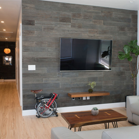 "Barnwood Slate Reclaimed Wood Wall Panels // 20 Sq. Ft (1.5"" Width)"