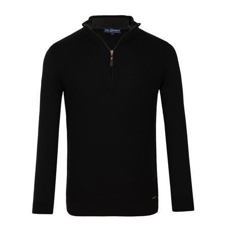 Alexander Quarter-Zip Sweater // Black (XS)