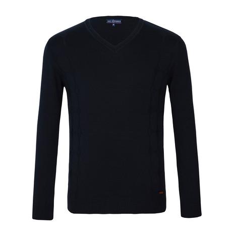 Shadd V-Neck Sweater // Black (XS)