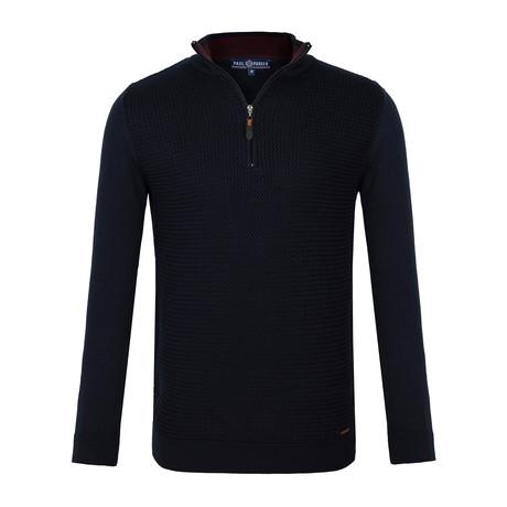 Danica Quarter-Zip Sweater // Navy (XS)