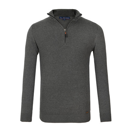 Kira Quarter-Zip Sweater // Anthracite (XS)