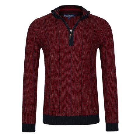 Oma Quarter-Zip Sweater // Red (S)
