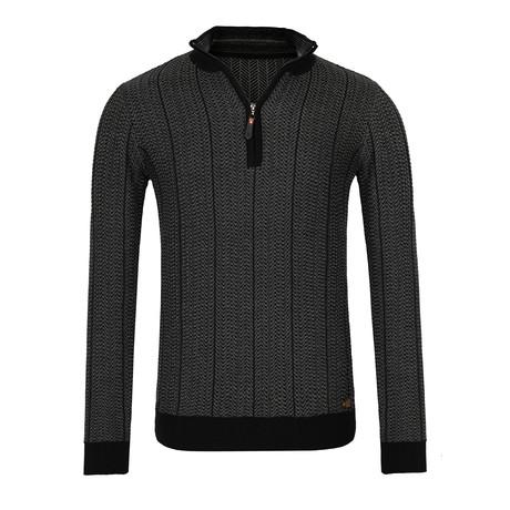 Cador Quarter-Zip Sweater // Black (XS)