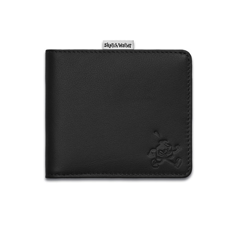 Sketch Wallet // Medium // Leather (Black)