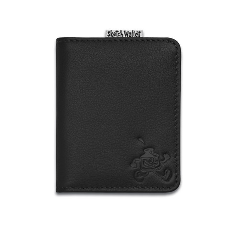 Sketch Wallet // Small // Leather (Black)