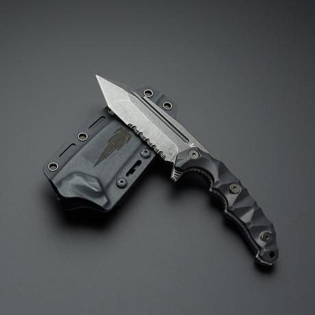 Kattlan MilSpec Elite // Black Titanium Stone Washed Blade
