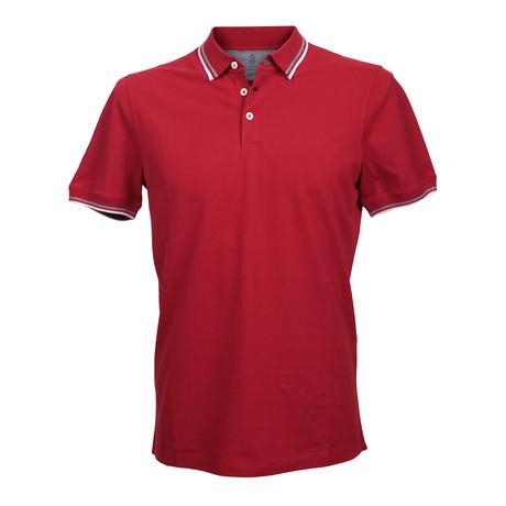 Slim Fit Polo Shirt V1 // Red (XS)