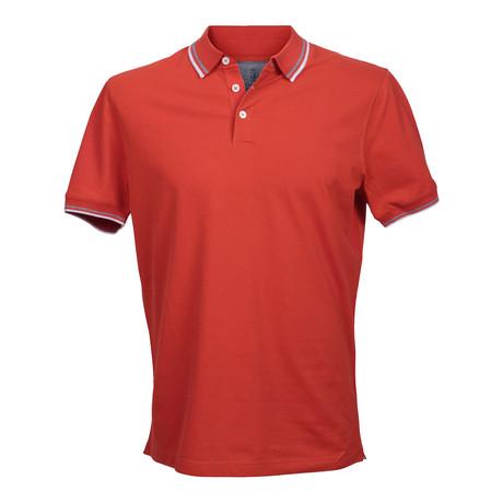 Slim Fit Polo Shirt // Orange (XS)
