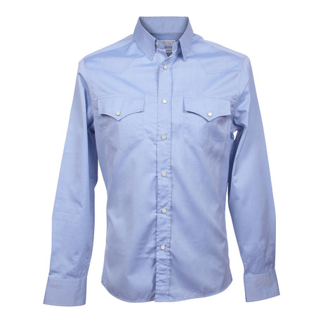 Western Leisure Fit Shirt // Blue (2XS)