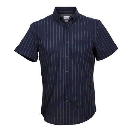 Leisure Fit Short Sleeve Shirt // Navy (XS)