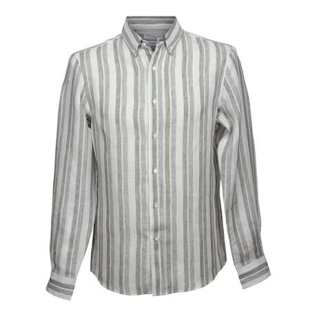 Leisure Fit Linen Shirt // Gray (XS)