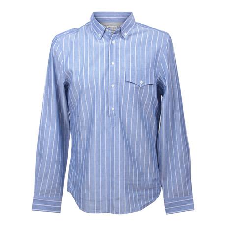 Leisure Fit 3/4 Long Sleeve Shirt // Blue (XS)