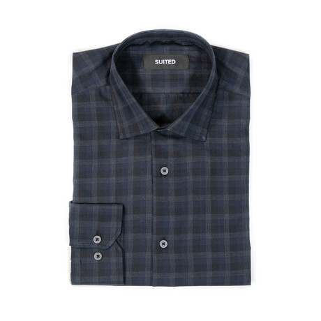 Espinoza After-Hours Dress Shirt // Black + Blue (S)