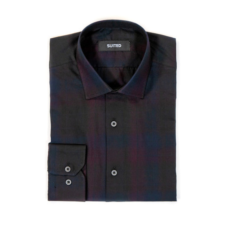 Fields After-Hours Dress Shirt // Black + Pink (S)