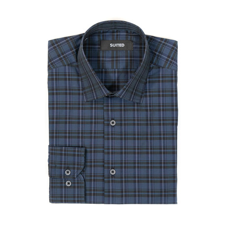 Wyatt After-Hours Dress Shirt // Blue + Black (S)