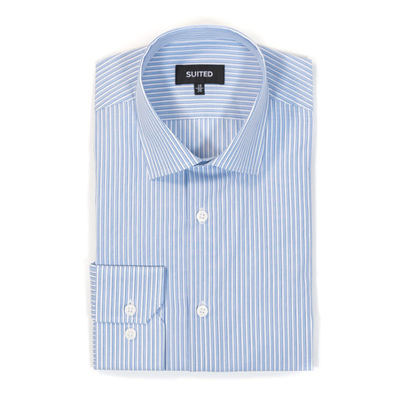 Robbins Business Dress Shirt // Light Blue + White (US: 14.5A)