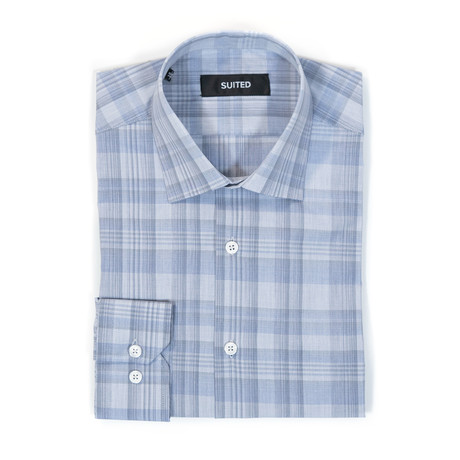Hayes Business Dress Shirt // Denim Blue (US: 14.5A)